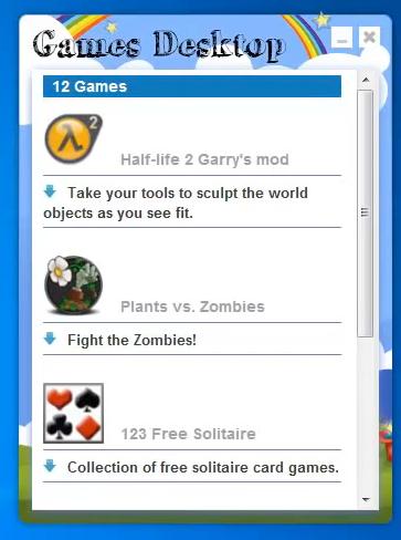 как избавится от games desktop