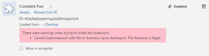 Удаляем расширение Constant Fun в браузере