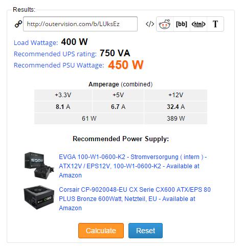 eXtreme Power Supply Calculator